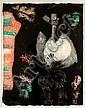 BYRON GALVEZ, Personaje, Firmado y fechado 90, Xilografía P / T, 110 x 85 cm., Byron Galvez, Click for value