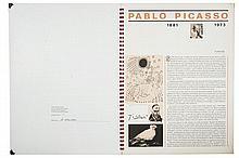 Foppa, Alaide. Pablo Picasso, 1881 - 1973. Sin pie de imprenta. Edición de mil ejemplares numerados. Con 6 reproducciones.