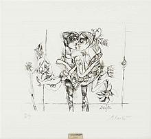 Cantú, Gerardo. La Última Cena. Aguafuerte, 39 x 31 cm. Sin título. Grabado, 24 x 29.5 cm. Firmados. Piezas: 2.