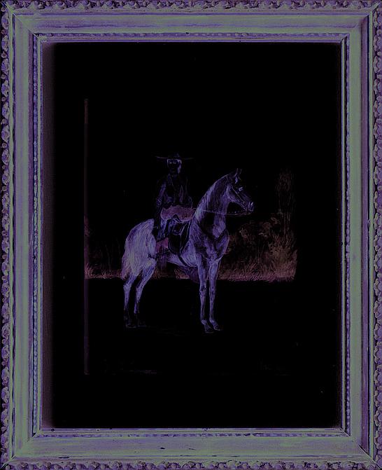 José Salomé de Pina (1830 – 1909). Dama a caballo. Origen mexicano. Firmado y fechado 1865. Acuarela sobre papel. 25 x 19 cm.