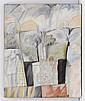 PERLA KRAUZE, La mesa está servida, Firmado y fechado Krauze Broid 87. Óleo y collage de telas sobre tela, 60.5 x 50 cm