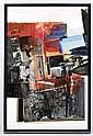 FERNANDO GARCÍA PONCE, Imagen en Rojo y Negro, 1971, Mixta y collage sobre cartón, 76 x 50.5 cm