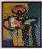 GILBERTO ACEVES NAVARRO, Ya se la comió el nahual, Firmado y fechado México 82. Óleo sobre tela, 100 x 84.5 cm