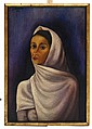 JUAN SORIANO, Retrato de mujer, Firmado y fechado 36. Óleo sobre fibracel, 70 x 47.5 cm, Con certificado del artista.