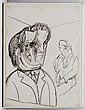 JOSÉ LUIS CUEVAS, Sin título, Firmado y fechado 1986-87. Tinta sobre papel, 95 x 70 cm