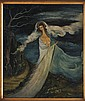 SOFÍA BASSI, Sin título, Firmado. Óleo sobre masonite, 70 x 60 cm