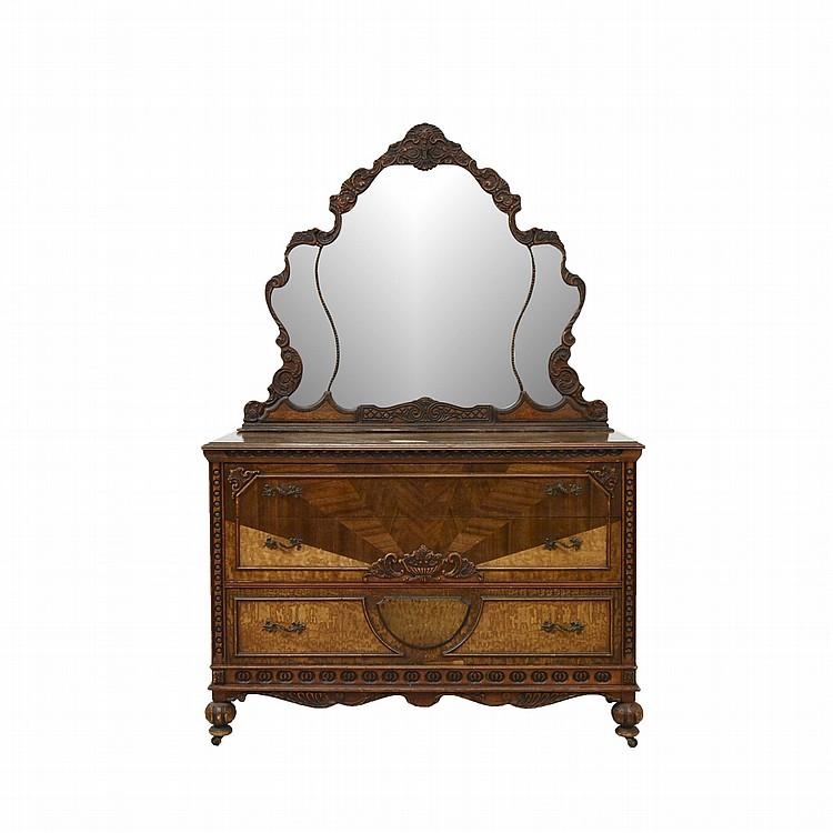 C moda siglo xx estilo victoriano elaborada en madera tal - Comoda con espejo ...