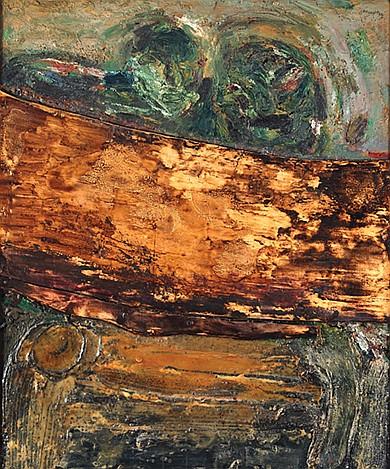 GILBERTO ACEVES NAVARRO, Los comedores de papas segun Van Gogh, Firmado y fechado 92, Mixta sobre tela sobre tabla, 120 x 100 cm.