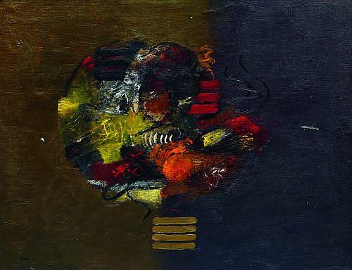BYRON GÁLVEZ, Sin título, Firmados y fechados 68, Óleo sobre tela, 90 x 70 y 70 x 90 cm. PIEZAS: 2