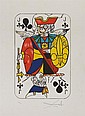 SALVADOR DALÍ, Jack of Clubs, 1967, Firmada. Litografía 32 / 300, 36 x 24 cm