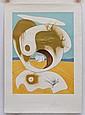 SALVADOR DALÍ, Vision planétarie et scatologique, 1974, Firmada. Cromolitografía y punta seca H.C. 74.5 x 55 cm