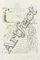 Salvador Dali, Helen, Troya and Paris, signed, engraved