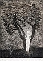Juan Soriano, Tree and Girl, signed and dated 94, engrave PA