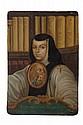 MIGUEL CABRERA (MÉXICO, 1695 - 1768). LA MADRE JUANA YNES DE LA CRUZ. Óleo sobre lámina de cobre. Firmado y fechado 1750. 18 x 12.5 cm.