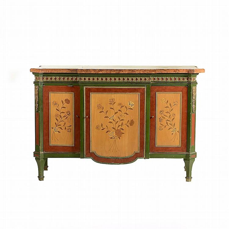 C moda siglo xx estilo luis xvi elaborada en madera entin for Marmol color cafe