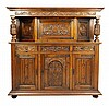 A FRENCH RENAISSANCE STYLE OAK SIDEBOARD CABINET