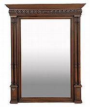 A FRENCH RENAISSANCE STYLE WALNUT MIRROR