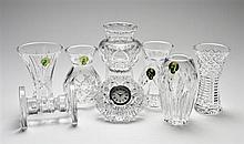 EIGHT WATERFORD CRYSTAL TABLE ARTICLES