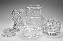 FIVE CUT CRYSTAL TABLE ARTICLES