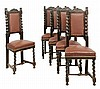 A SET OF FIVE RENAISSANCE REVIVAL SIDE CHAIRS