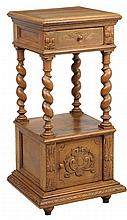 A GOTHIC REVIVAL BEDSIDE CABINET