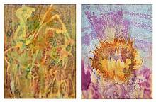 HENRI PFEIFFER, (German/French, 1907-1994), Untitled, Watercolor (two works), H 25 x W 19 inches (each).