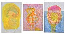 HENRI PFEIFFER, (German/French, 1907-1994), Untitled, Watercolor (three works), H 17 x W 12½ inches. H 19 x W 12½ inches.