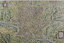 ETIENNE DUPERAC, (French, c. 1520-1604), Urbis Romae Sciographia ex Antiquis Monumentis Accuratiss Delineata Descrizione (Study of t...