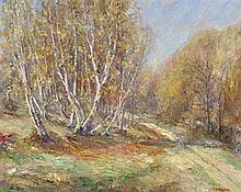 HOWARD RUSSELL BUTLER, N.A., (American, 1856-1934), Landscape, Oil on canvas, H 23¼ x W 29 inches.