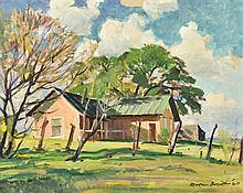 REVEAU BASSETT, (American, 1897-1981), Morgan's Place, 1960, Oil on canvas board, H 15½ x W 19½ inches.