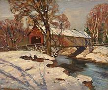GEORGE GARDNER SYMONS, N.A., (American, 1863-1930), Winter Landscape, Oil on canvas board, H 19½ x 23½ inches.