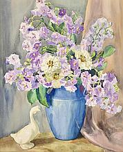 FRANCES KEFFER, (American, 1881-1953), Floral Still Life, Watercolor on paper, H 23½ x W 19 inches.