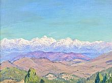 ELIOT CLARK, N.A., (American, 1883-1980), Arizona Mountains, Oil on canvas board, H 11½ x W 15½ inches.