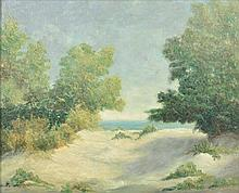 SEARS GALLAGHER, (American, 1869-1955), Untitled, Oil on canvas board, H 23¾ x W 29½ inches.