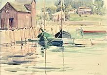 DAWSON DAWSON-WATSON, (American, 1864-1939), Rockport, Texas, 1932, Watercolor on paper, H 17½ x W 23½ inches.