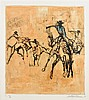 LEROY NEIMAN, (American, 1921-2012), Rodeo, Etching, ed. XL/XL 80 AP, H 21 x W 19 inches.