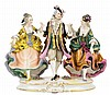 A ROYAL VIENNA PORCELAIN FIGURAL GROUP