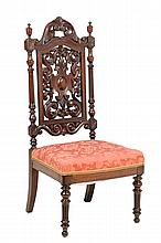 A RENAISSANCE REVIVAL SIDE CHAIR