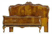 A VENETIAN ROCOCO STYLE WALNUT BED