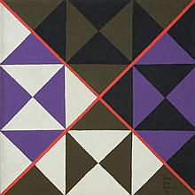 SIDNEY JONAS BUDNICK, (American, 1921-1994) (AMERICAN; 1921-1994), Cosmic Cross no 8 , 1973, Acrylic on board, H 24 x W24