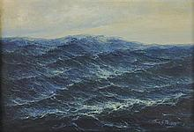 GUILLERMO GÓMEZ MAYORGA, (Mexican, 1889-1962), Marina / Seascape, Oil on canvas, H 22 x W 31¾ inches