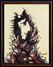 DAVID ALFARO SIQUEIROS, (Mexican, 1896-1974), Untitled, Ca. 1968, Acrylic on paper on board, H 13½ x W 10¼ inches