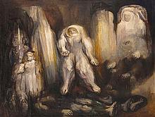 FRANCISCO MORENO CAPDEVILA, (Mexican, born 1926), Espectros Ibéricos, 1963, Oil on canvas, H 55¼ x W 72½ inches