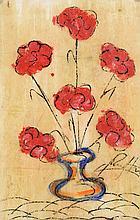 JESÚS REYES FERREIRA, AKA CHUCHO REYES, (Mexican, 1882-1977), Florero, Gouache on paper, H 28 x W 18 inches