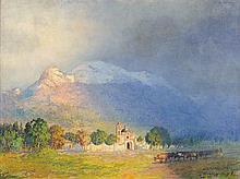 GUILLERMO GÓMEZ MAYORGA, (Mexican, 1889-1962), Miraflores, Mexico, Oil on canvas, H 24 x W 31¾ inches