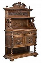 A RENAISSANCE REVIVAL CARVED OAK SERVER