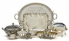 A COLLECTION OF AMERICAN AND ENGLISH SILVER-PLATE ARTICLES