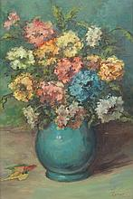 MAX KUEHNE, (German, 1880-1968), Floral Still Life, Oil on canvas, H 23½ x W 15½ inches.