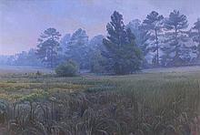 LEE JAMISON, (American, born 1957), Mr. McMilliam's Field, Oil on canvas, H 40 x W 60 inches.