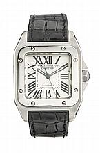 A CARTIER SANTOS 100 WRISTWATCH